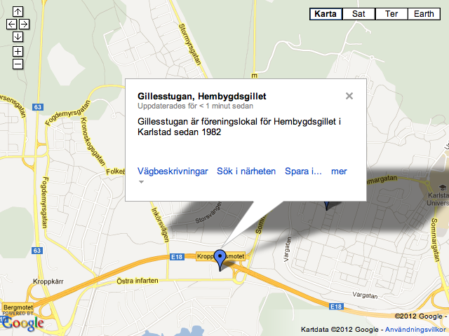 Gillesstugan Google Maps