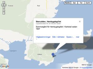 Stenudden Google Maps