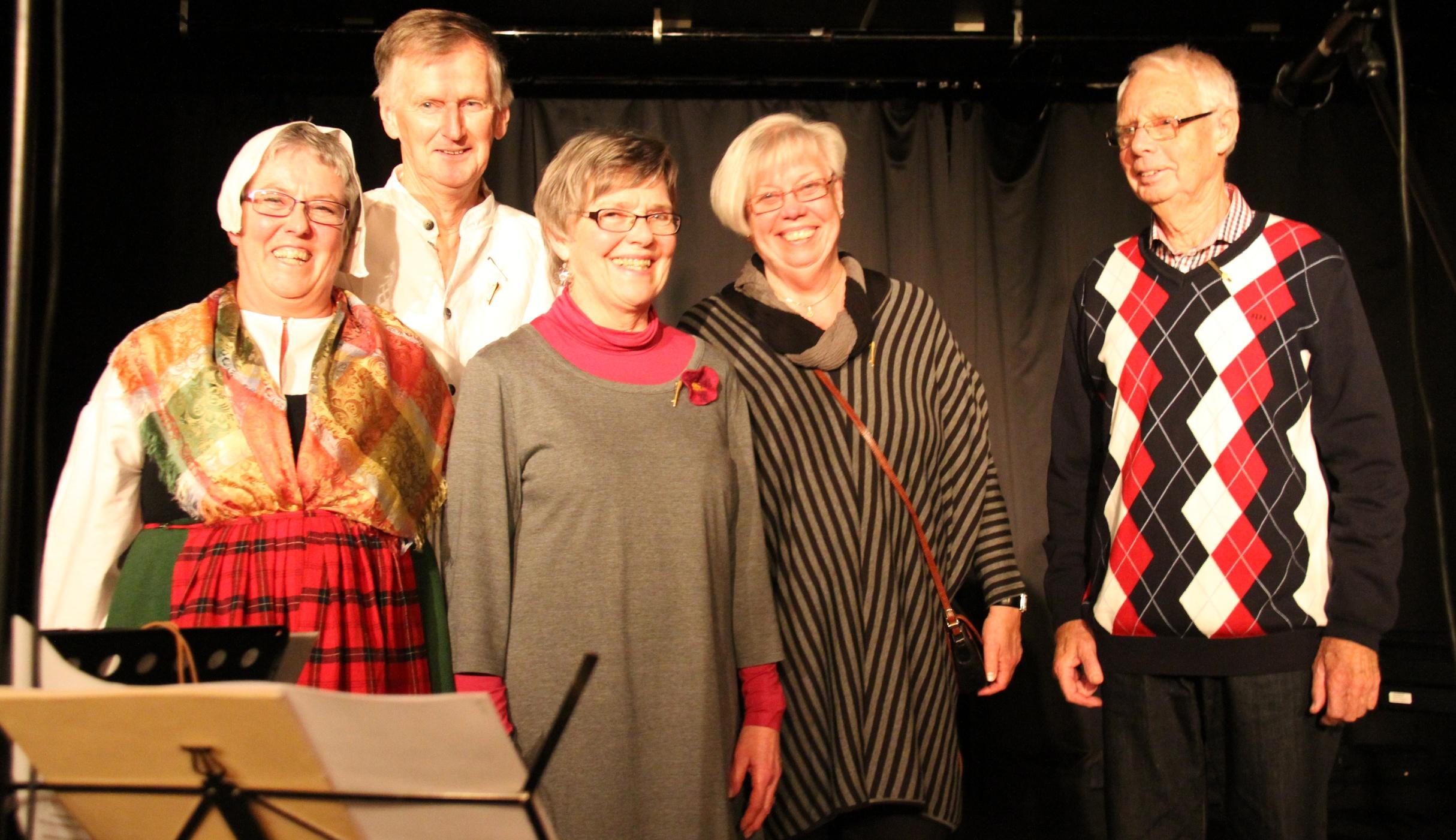 Hembygdsgillets utmärkelse Guldluren gick till Birgitta Nyström, Bengt Carlson, Gunilla Nilsson, Anitha Stenstrand och Bengt Andersson