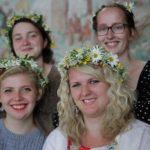 Folkstråkkvartetten Taijga (Tove Meyer-Lie, Evelina Höglund, Miranda Samuelsson och Ebba Andersson)